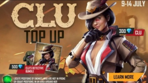 Free Fire Clu, Clu Character free fire, Unlock clu character in Free Fire, Free Fire Clu Top Up, Free Fire top up event