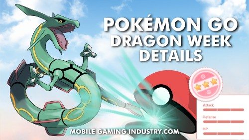 Pokemon GO Dragon Week, Pokemon GO Ultra Unlock Bonus, Pokemon GO Limited Timed Research, Rayquaza Raid, Shiny Dieno, Pokemon GO Dragon Type Pokemon