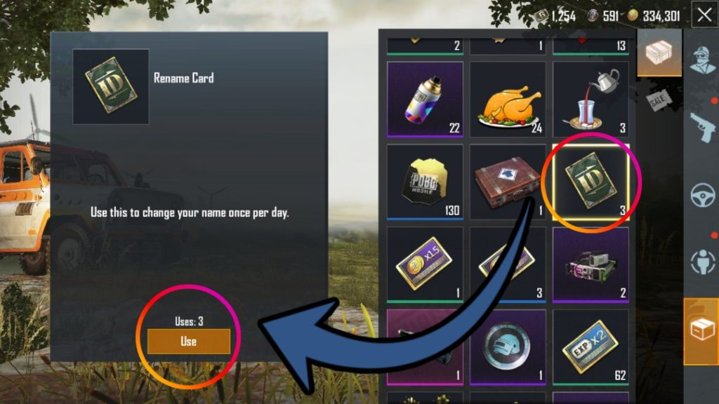How to Change Name in PUBG Mobile, PUBG Mobile ID Card, PUBG Mobile Rename Card, Gift Rename Card in PUBG Mobile, PUBG Mobile Name Change Guide