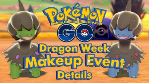Pokemon GO Dragon Type Pokemon, Pokemon GO Dragon Week, Pokemon GO Dragon Week Makeup Event, Pokemon GO Makeup Event Timed Research Tasks Rewards, Pokemon GO Ultra Unlock Bonus, Shiny Dieno