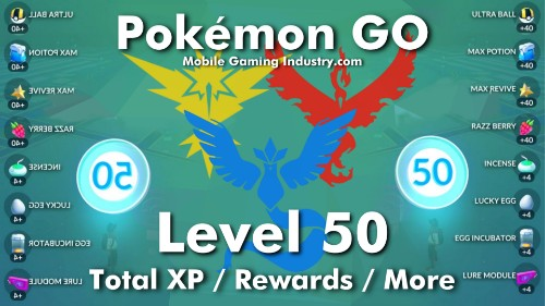 Pokemon GO Level 50, Pokemon GO Level 50 Details, Pokemon GO Lv 50, Pokemon GO Level 50 Rewards, Pokemon GO Level 50 XP Requirements