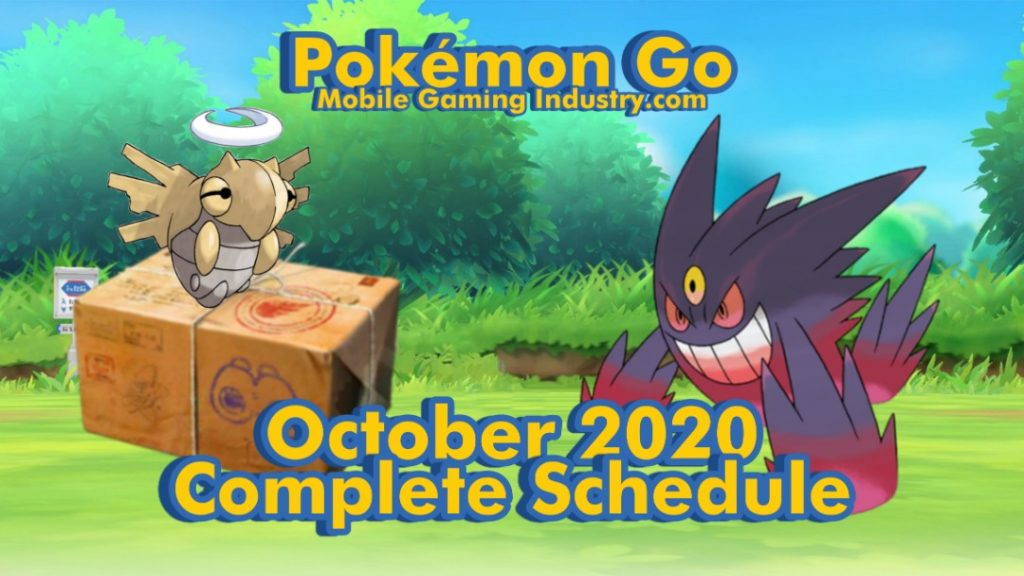 Pokemon GO October 2020, Pokemon GO Schedule October 2020, Pokemon GO Community Day October 2020, Pokemon GO Research Breakthrough Pokemon October 2020, Pokemon x Longchamp, Pokemon GO Fashion Event, Pokemon GO Halloween Event, October 2020 Spotlight Hour, October 2020 Community Day